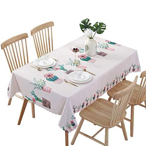 Hunterace PVC vinilo mantel mantel rectangular mesa cubierta para cocina limpiar plástico limpio (135 * 220 cm) -2