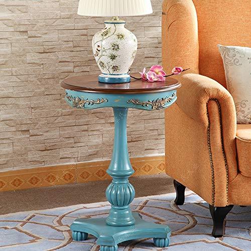 Bureau DD bijzettafel, beschilderde tuin koffietafel, Europese ronde tafel, vintage bank zijtafel, oude telefoon -werkbank