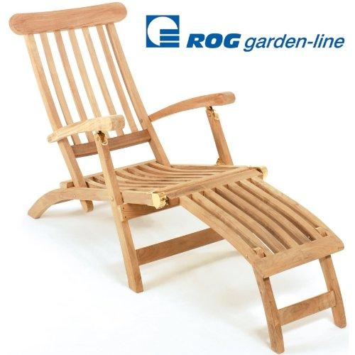 ROG garden-line TL8008: Teak LIEGESTUHL DECKCHAIR SAN Miguel