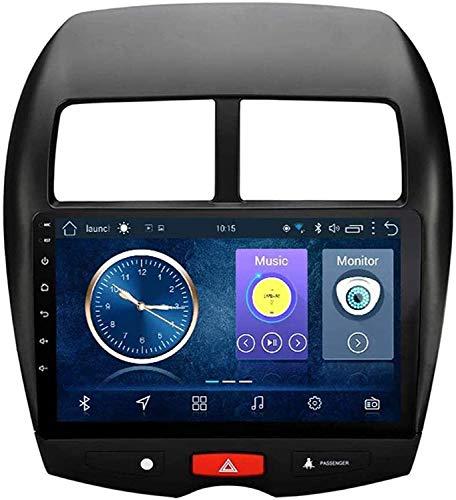 Compatible Para Mitsubishi ASX 2013-2015 Android 10.0 SAT NAV FM Radio Receptor Doble Din Auto Audio Player Coche Estéreo 9 Pulgadas Pantalla Táctil LCD Monitor GPS Navegación,8 core 4G+WiFi 2+32GB