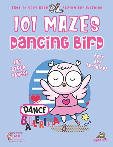 Bird Maze Book for Kids Ages 4-8: 101 Puzzle Pages. Custom Art Interior. Cute fun gift! SUPER KIDZ. Dancing Angel Wings.