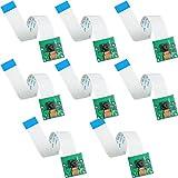 8 Módulos de Cámara 5 Megapíxeles 1080P OV5647 Pi Sensor de Cámara con 6 Pulgadas Cables Planos de 15 Pines Compatible con Raspberry Pi Model A B B+, Pi 2 y Raspberry Pi 3, 3 B+, Pi 4