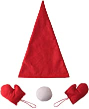 MIS1950s Christmas Tree Topper Cover Red Hat Glove Snowman Decorative Props- Xmas/Holiday/Winter Party Decoration Ornament Supplies Home Decor