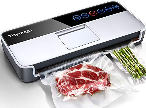 Automatic Intelligent Vacuum Sealer Machine, Toyuugo 5-In-1 Food Sealer for Food Savers, (-95Kpa) Air Sealing System Machine with One-Touch Operation...