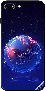 حافظة واقية لهاتف آبل آيفون 7 بلس حافظة بنمط الكرة الأرضية الزرقاء