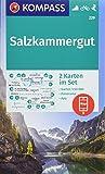 KOMPASS Wanderkarte Salzkammergut: 2 Wanderkarten 1:50000 im Set mit Panorama inklusive Karte zur offline Verwendung in der KOMPASS-App. Fahrradfahren. Skitouren. (KOMPASS-Wanderkarten, Band 229) - KOMPASS-Karten GmbH