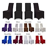 Covering All Occasions Chair Covers Stretch Fit Lycra Spandex | Flat Fronted | Dining Room Wedding Banquet Party - Black 6
