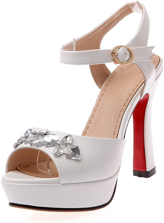 AdeeSu Ladies Rhinestones Slipper-Outdoor-Sole Polyurethane Sandals