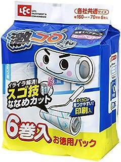レック 激コロ スゴ技カット 70周 スペア 6個入 (カーペットクリーナー)