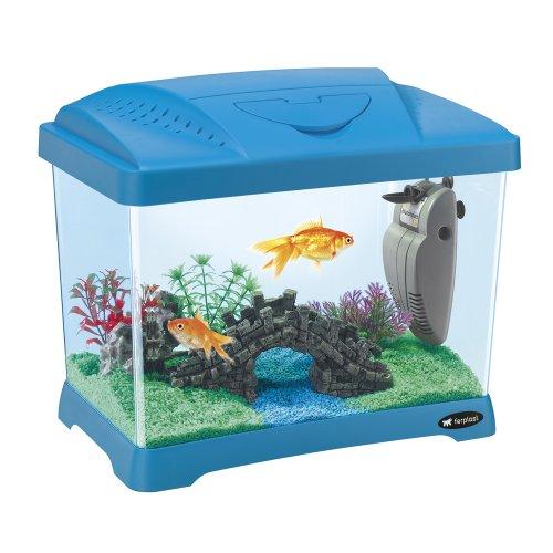 Ferplast 65010025 Aquarium CAPRI JUNIOR, afmetingen: 41 x 26,5 x 34 cm, 21 liter, blauw