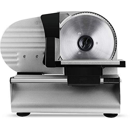 Premium Commercial 200W elektrische Fleischschneidemaschine für zu Hause Eigenschaften Schnittdickenkontrolle Deli Fleisch Frozen Meat Cheese Food Slicer