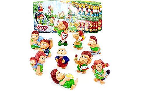 Kinder Überraschung Los Ötzis vienen 10 figuras con 10 folletos (juego completo de figuras de Ferrero)