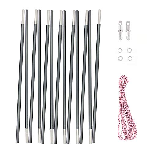 "Weanas Aluminum Replacement Tent Poles, Multifunction Lightweight Tent Pole Repair Kit(NOT Assembled Set) (16'3""(496cm) 1 Pole)"