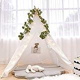 Razee Kids Teepee Tent with Fairy Lights, Artificial Vines, Teepee Play Tents for Children Boys Girls Indoor & Outdoor