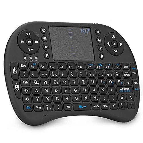 Rii Mini Tastatur Wireless, Kabellos Tastatur mit Touchpad(I8+X8