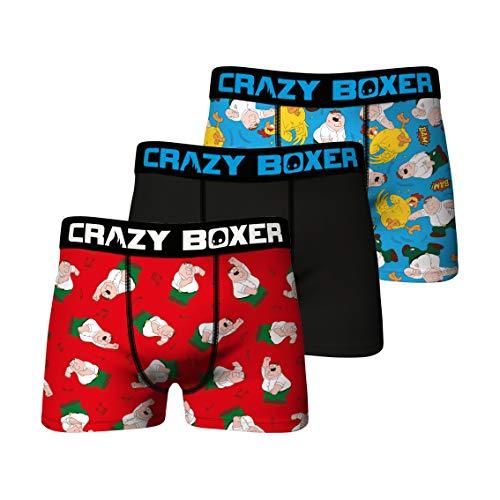 Herren Boxershorts Family Guy, 3er-Pack - - X-Large