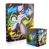 Tarjetero Pokémon, Álbum de Pokemon, Álbum de Cartas Coleccionables Pokémon, Álbum de Entrenador de Cartas Pokémon GX EX. El álbum Tiene 30 páginas y Puede Contener 240 Tarjetas (Mew-two)