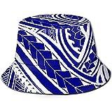 Baobei-shop Tela Polinesia Tatuaje Sombrero Unisex Cubo Sombrero de Pescador de Tapa Plana Gorra de Sol al Aire Libre