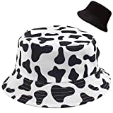 XYIYI Cow Print Bucket Hat Funny Fishing Hats for Women, Reversible Double-Side-Wear