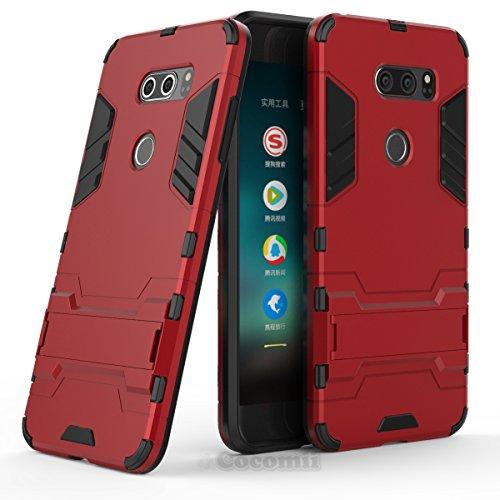 Cocomii Iron Man Armor LG V35/V30/V35+/V30+/V30S Case, Slim Thin Matte Vertical & Horizontal Kickstand Reinforced Drop Protection Fashion Bumper Cover Compatible with LG V35/V30/V35+/V30+/V30S (Red)