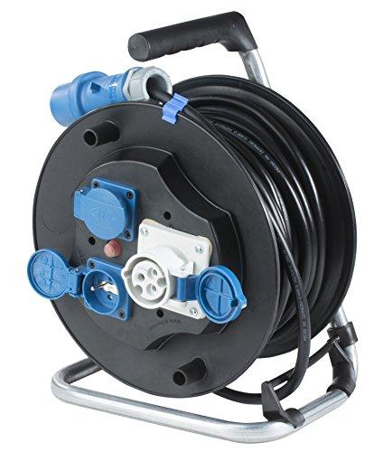as - Schwabe 810176 Enrouleur de câble camping 25 m 230 V Noir