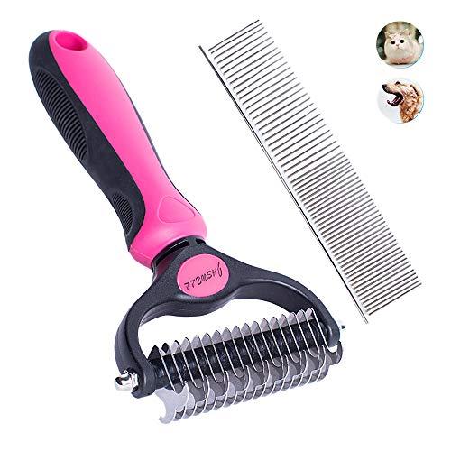 Jaswell Fellpflege-Werkzeug für Hunde und Katzen, 2-seitig, zum Entfernen von Verfilzungen und Verfilzungen