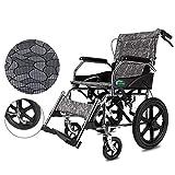 silla de ruedas Ligero Plegable Asistente de propulsión Portátil Ancianos Discapacitados Tránsito Silla de Viaje