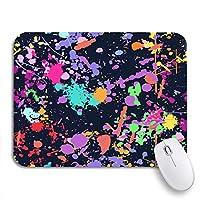 ROSECNY 可愛いマウスパッド カラフルな抽象的な色のスプラッシュスプレーペイントなし暗いノンスリップゴムバッキングマウスパッドノートブックコンピューターマウスマット