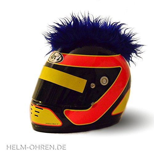 Helm-Irokese für den Skihelm, Snowboardhelm, Kinderskihelm, Kinderhelm, Motorradhelm oder Fahrradhelm – – Der HINGUCKER – Der etwas auffälligere Helm-Aufkleber – für Kinder und Erwachsene HELMDEKO (Rot) - 3