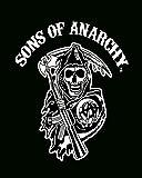 Sofantex Sons of Anarchy Reaper Luxury Plush Throw Blanket, Black