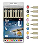 G.T. Luscombe Company, Inc. Pigma Micron 01 Fine & 05 Medium Point Inductive Bible Study Pen Kit | No Bleed Pigmented Ink | Black, Red, Orange, Blue, Green, Pink, Violet, Yellow (Set of 8) | New Packaging |
