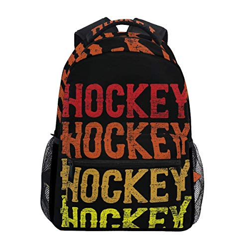 Schoolbag Vintage Retro Hockey Travel College Impreso Durable Ligero Elegante Casual Estudiante Único Mochila Regalo Escuela Bolso De Hombro Mochila
