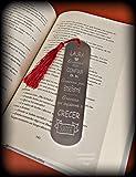 Marcapaginas - punto de lectura personalizado. Especial regalo profesor/maestro...