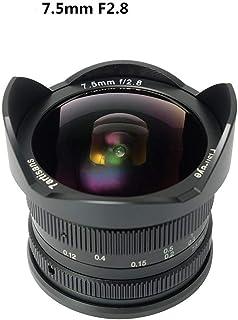 7artisans 7.5mm F2.8 マニュアルレンズ 魚眼広角レンズII カメラ交換レズ 手動フォーカス FUJI 富士カメラ用交換レンズ 対応 FX バヨネット (X-A1 / X-A10 / X-A2 / X-A3 / X-AT/X-M1 / X-M2 / X-T1 / X-T20 / X-PRO1-X / PRO2-X-E1 / X-E2 / X-E2Sである。)