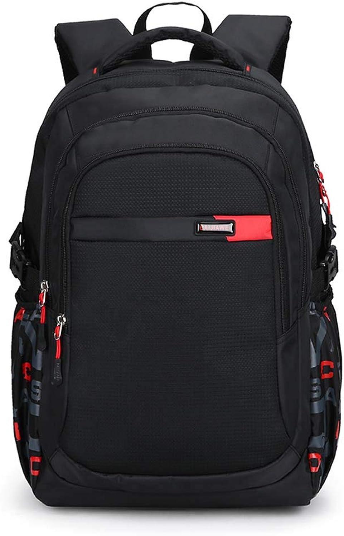 Backpack Laptop Bag School Rucksack Waterproof Daypack (color   Red)