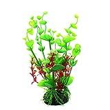 Bbl345dLlo Plantas acuáticas Tropicales, Planta de Acuario Falsa, Hierba de Agua, Color Brillante, Adorno de Acuario, decoración de plástico, Color Verde