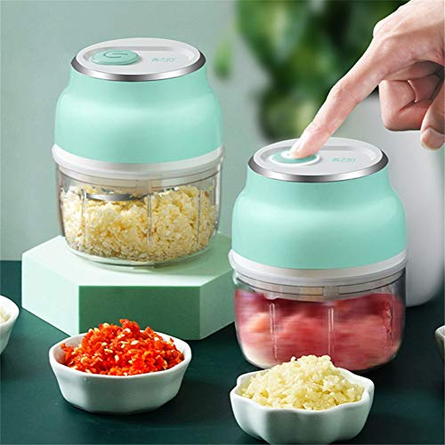Garlic Grater Electric Food Garlic Vegetable Chopper Grinder Crusher Press For Nut Meat Fruit Onion Multi-function Process