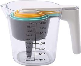 Conjunto de 9 colheres de medição, 1 copo de medição, 1 espátula, 1 funil e 6 colheres de medição, conjunto de colheres e ...