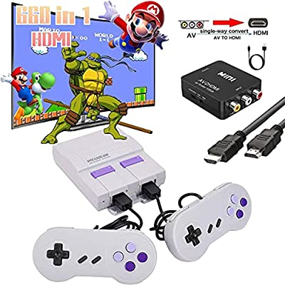 660 Retro Game Console,NES Classic Mini Game System with Build-in Video Games and 2 Controllers,AV and HDMI Output,An Ideal Gift for Kids and Adults. by Nuilhpn