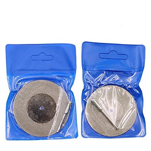QILIYING Rueda de Corte de Angulo Amoladora, Rueda de rectificado de Disco de Corte de Diamante 50 / 60mm de Diamante Sierra Circular 3mm de taladrado de vástago by (Outer Diameter : 50MM)