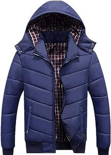 GUIFANG Men's Casual Winter Large Size Outdoor Plus Velvet Thick Waterproof Hooded Coat Jacket