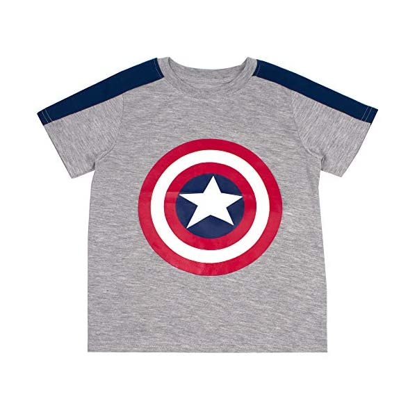 Avengers Marvel and Spiderman Superhero Shirts 3-Pack for Boys and Toddlers
