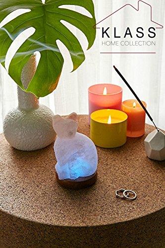 Klass Home Collection® Lampe USB en sel de roche naturel Multicolore Couleur