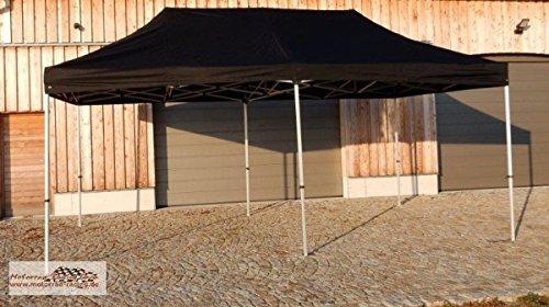 Zelt / Event-Pavillon / Falt-Pavillon schwarz 6x3 Meter mit Aluminiumgerüst