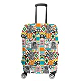 Ruchen - Funda protectora para maleta, diseño étnico tribal, colorida, para...