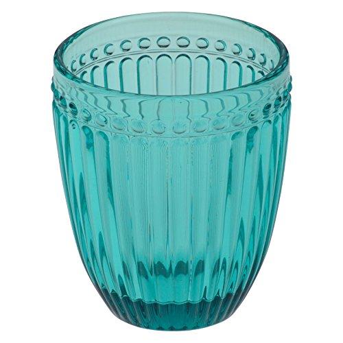 Anton Studio Designs Loire Juego de 6 Vasos de Cristal Doble Retro Azul Turquesa