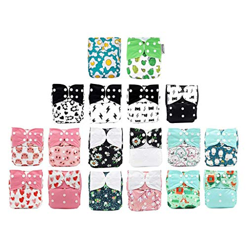KaWaii Baby Pack of 18 One Size Cloth Diaper Shells Adjustable Leak-Proof...