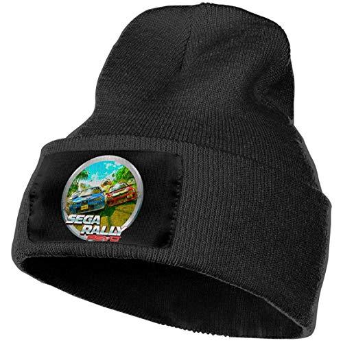 haoqianyanbaihuodian Cappelli da uomo e da donna Sega Rally Revo Skull Beanie Cappelli invernali Berretti lavorati a maglia Cappello da sci caldo e morbido Nero
