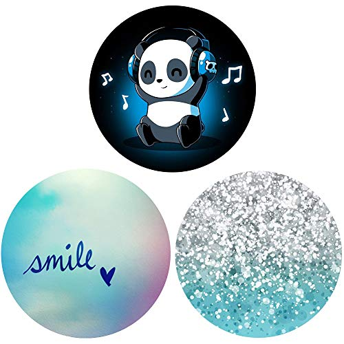 3 Pack Multi-Function Mounts and Stands for Smartphones and Tablets - Music Panda Marble Blue Smile Heart