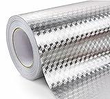 WDragon - Pegatinas de Aluminio para Cocina (Impermeables, antigrasas, 61 x 254 cm)